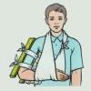 Яка перша медична допомога надається при переломах кісток