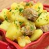 Картопля з м'ясом в мультиварці