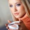 Макіяж для блакитних очей і русявого волосся